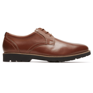Classic Zone Plaintoe Oxford Comfortable Men's Shoes in Brown